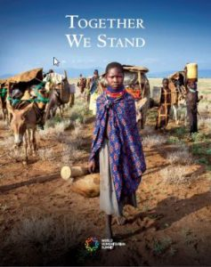A picture of the front cover of the book 'together we stand'