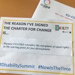 EU-CORD at the 1st Global Disability Summit